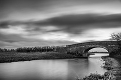 Black glass (chaotic river) Tags: bridge white black blur john canal head lancashire filter nd lancaster nook density rennie neutral bilsborrow
