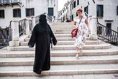 Cultures Meeting- Venice 2016 (yoriyas) Tags: street streetphotography sureal religion islam fujifilm venice italy arab arabphotography photographer yoriyart yoriyas yassinealaoui photobook pictureoftheday niqab tourist morocco
