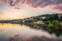 Trvoux (Stphane Slo) Tags: ain france paysage pentax pentaxk3ii sane bateau city couchant coucherdesoleil landscape sigma1020f456 sunset trvoux ville t