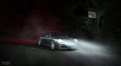 Porsche 911 Carrera S (Evano Gucciardo) Tags: porsche 911 carrera dark creepy strobe lights style stance low rotiform wheels rochester newyork cool awesome night drive static nikon d800 composite layer automotivephotography automotiveadvertising commercialphotography detail sharp grunge flash strobist lighting