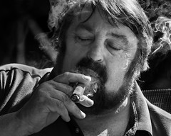 Cigar man 1 (andypf01) Tags: cigar man bokeh bliss enjoyment satisfaction