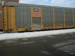 02-05-11 (41) (This Guy...) Tags: graf graff graffiti train car traincar rail road railroad rr box boxcar 2011 jaber painters cough kyt dtc
