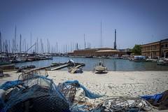 Mallorca's shipyard (Adri Pez) Tags: mallorca majorca isla illa island islands illes islas baleares balearic balears mar sea mediterranean mediterrani mediterrneo sky cielo agua water blue azul spain espaa europa europe boat barco barca boats barcos muelle port puerto