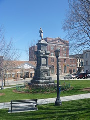 Left Side View Of The Sussex County Civil War Memorial, April 17,2016 (rustyrust1996) Tags: sussexcounty newton newjersey newtongreen civilwarmemorial courthouse