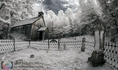 Rockingham Church and St. Leonard's Anglican Cemetery - IR (Steve Troletti Nature & Wildlife Photographer) Tags: canada discover ir nationalgeographic northamerica ontario photo photography urbannature anglican cemetery church country environment graves historical history infrared nature nikon region religeon religious remote rockingham smalltown stevetroletti trees village