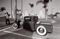 Exa 1C Wigwam Motel 1 () Tags: vintage retro classic film camera losangeles california riverside history west coast architcture eastgerman ddr gdr exa dresden slr 35mm black white bw kodak tmax m42 route66
