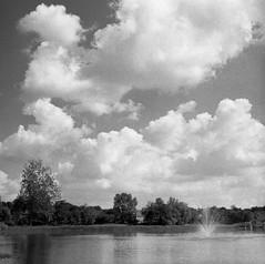 Afternoon with Sun and Big Clouds (bclook) Tags: pentaconsixtl p6 biometar2880 fomapan fomapan400 bwfp bw schwarzweiss noiretblanc film analog istillshootfilm filmisnotdead