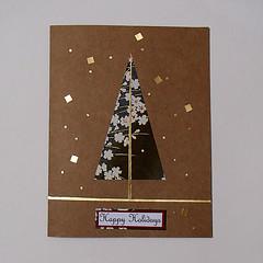 handmade-card (Julie Savard) Tags: origami handmade handmadecards orijuju juliesavard carteenorigami greetingcards collage mixedmedia paperfolding christmas christmastree christmascards holidaycards seasonsgreeting christmastreecards holyday