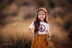 Stay wild, moon child (Portraits by Suzy) Tags: boho desert natural light bohemian sunset summer fashion girl model beauty beautiful canon portraits by suzy color golden hour grass hippy pretty feathers 200mm 200l wildflower mead chidhood child portrait clean