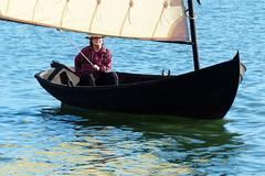 I am sailing .... (evisdotter) Tags: sailboat segelbt woman water sail segel reflections sooc