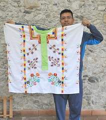 Amatlan Huipil and Maker Veracruz (Ilhuicamina) Tags: huipil huipiles veracruz mexico nahua embroidered amatlandelosreyes clothing textiles trajes