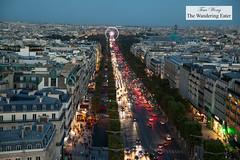 Looking toward Roue de Paris on Place de la Concorde from Arc de Triomphe (thewanderingeater) Tags: paris france arcdetriomphe landmark