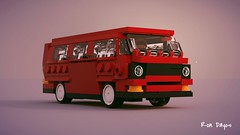 T3 V3 front view.lxf (ron_dayes) Tags: vw t 3 update moc minifigure modular city classic stlye mini bus car town volkswagen
