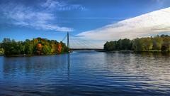 Vanhankaupunginkoski (timo_w2s) Tags: vanhankaupunginkoski helsinki finland autumn vanhankaupunki matinkaarensilta footbridge water sea
