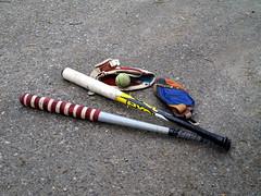 Pespallo bats, gloves and ball (Santeri Viinamaki) Tags: pespallo pespallorpyl pespallomaila pesismaila pesisrps ball pallo finnishbaseball