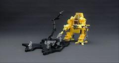 Brick Mamba Mech (adde51) Tags: adde51 lego moc mech mecha yellow brick mamba brickmamba drill walker