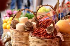 Ortygia's market, Syracuse - Sicily (ciccioetneo) Tags: ortygiamarket syracuse sicily sicilygoodness goodness cheese chilipeppers tricotta ricotta borderi caseificioborderi
