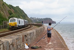 He's taking the piscatorial.....! (Stapleton Road) Tags: class67 diesel locomotive train seawall teignmouth railway 67029