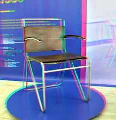 GISPEN stoel Boijmans Rotterdam 3D (wim hoppenbrouwers) Tags: gispen stoel boijmans rotterdam 3d gispenstoel boijmansrotterdam anaglyph stereo redcyan furniture chair