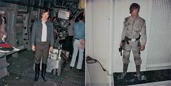 Empire Strikes Back costume continuity polaroids (Tom Simpson) Tags: starwars theempirestrikesback film movie behindthescenes vintage 1979 1970s hansolo harrisonford lukeskywalker markhamill