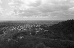 Skyline Adelaide near suburbs (tymobile) Tags: iso400 ilfordhp5 filmphotography australia southaustralia adelaide 100mmf28 carlzeiss 6x9 120 blackwhitefilm mediumformat technika linhof
