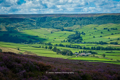DSC_1160-2 (jameshowardphotography) Tags: fields sky blue green grass heather countryside yorkshire rosedale open vast