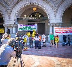 2016.09.12 DC People and Places 07836 (tedeytan) Tags: antisemitism cameras dc homophobia nevertrump oldpostoffice racism trumphotel trumpinternationalhotel washington xenophobia americanflag dcist media misogyny pennsylvania protest exif:focallength=18mm exif:isospeed=125 camera:make=sony exif:aperture=40 exif:lens=e18200mmf3563 exif:make=sony camera:model=ilce6300 exif:model=ilce6300
