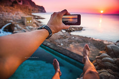 Sunrise. (arturii!) Tags: wow amazing awesome superb interesting stunning impressive nice beauty great arturii arturdebattk canonoes6d gettyimages travel trip tour route viatge holidays vacations pov pointofview personalperspective me myself man guy smartphone iphone apple legs arm hands holding wet sunrise nature outdoors landscape seascape mediterraneansea baixemporda catalonia catalunya europe costabrava takingpictures contemplating shoreline summer coast beach summertime paradise cool visual horizon magical moment