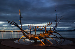 Viking ship (cromgrze) Tags: iceland viking ship sculpture reykyavik art