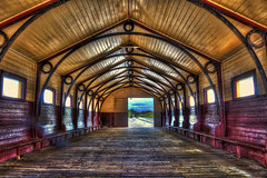 Queenscliff Pier Shelter Shed (jatakaphoto) Tags: pier jetty shelter shed historic heritage building classic queenscliff portphillip bayside crftsmanship hdr