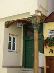 Hauseingang in Nrdlingen (stoerche-bw) Tags: korinthische sule fachwerk hauseck