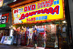 Typical Akihabara geek stores (HansPermana) Tags: japan tokyo city cityscape store shops lights bright geek nerd streetphotography anime dvd video