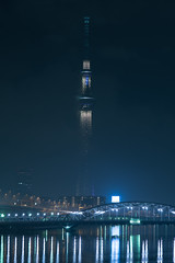 DSC05016 (Zengame) Tags: fe70200mm fe70200mmf4goss sony a6300 architecture cc cloud cloudy creativecommons illuminated illumination japan landmark miyabi night skytree tokyo tokyoskytree tower 6300             jp