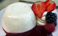 Pannacotta and fresh fruit (Joan's Pics 2012) Tags: macromonday sweetspotsquared pannacotta strawberries blackberries raspberry cream yummy tart explore