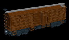 And Just When I Thought it Couldn't Get Any Better... (wildchicken_13) Tags: wildchicken13 lego train rolling stock chicken car palace poultry company live transportaion livestock moc ldd wip boxcar