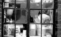Window Reflections L_M6_16788 (erlin1) Tags: reflection window 35mm 2016 analog bw blackandwhite film leicam6 newyork nyc september
