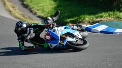 His race is over! (Steve Barowik) Tags: york northyorkshire motorbike bike lap circuit oliversmount stevehenshawgoldcup honda kawasake hairpin straight mountsidehairpin theesses quarryhill sheenesrise merehairpin farmbends jefferiesjump bottomstraight druryshairpin scarborough nikond750 barowik stevebarowik sbofls26 fx fullframe zoom 70200mmf28gvrii unlimitedphotos quantumentanglement lovelycity wonderfulworld danhegarty kawasaki fall accident bump radclifferacing