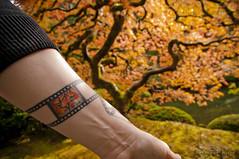 fall in Portland (*Starbuck*) Tags: fall tattoo japanesegarden explore japanesemaple pdx midnightmoon 35mmslidefilm thattree matclarke thatframeisanactualslideofminesoits100toscale