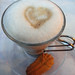 cafe macchiato with heart (at Taormina)