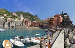 Vernazza harbor fully recovered after October flood (Bn) Tags: santa travel blue sea summer cactus italy sun holiday castle art heritage beach church water colors fruit swimming painting geotagged boats harbor fishing sand colorful mediterranean kayak village hiking walk liguria tourist lovers unesco trail vineyards kayaking olives cinqueterre charming opuntia vernazza viewpoint picturesque sunbathing margherita sunbather italianriviera ruined nocars pamtree rockycoastline viadellamore 32c dantiochia geo:lon=9681938 geo:lat=44135668