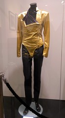 Michael Bush and Dennis Tompkins exhibition of Michael Jackson's Wardrobe collection (Abi Skipp) Tags: london clothes michaeljackson gettyimages michaelbush dennistompkins exhibitiondangerousgoldleotard