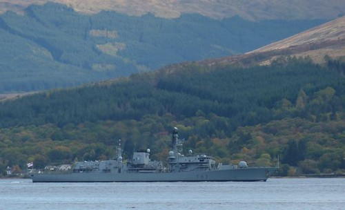 hms st albans in loch fyne 14 oct 2012