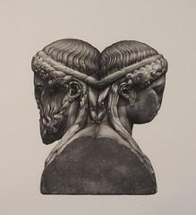 Augusto Bernardi - matita su carta (Augusto Bernardi) Tags: art ancient arte roman drawing kunst romano latino crayon antico matita disegno bleistift erma giano bifronte