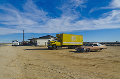 car and truck, Boron (philippe*) Tags: california usa cars abandoned desert boron