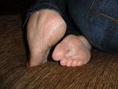A massage maybe ?? (basang2012) Tags: feet female foot toes bare dry heels soles