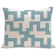 Maze Organic Pillow in Surf and Natural 15x18 (PURE Inspired Design) Tags: customfurniture organicfabric ecofriendlyfurniture woolrugs