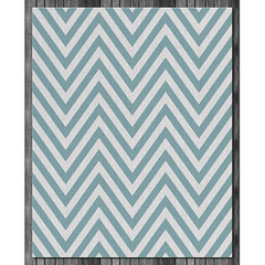 Chevron Wool Rug in Surf and Natural (on wood) (PURE Inspired Design) Tags: customfurniture organicfabric ecofriendlyfurniture woolrugs