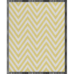 Chevron Wool Rug in Bright Yellow and Natural (on wood) (PURE Inspired Design) Tags: customfurniture organicfabric ecofriendlyfurniture woolrugs