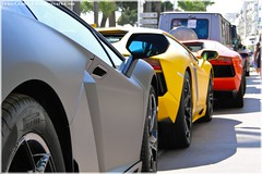 Aventadorssssssssssss (G-E Supercars) Tags: orange black cars yellow dubai carlton cannes voiture lamborghini supercars kuwai quatar hypercars aventador