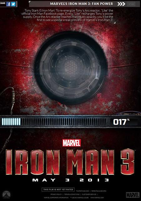 想要搶先看「鋼鐵人3」嗎?快來幫東尼充電!